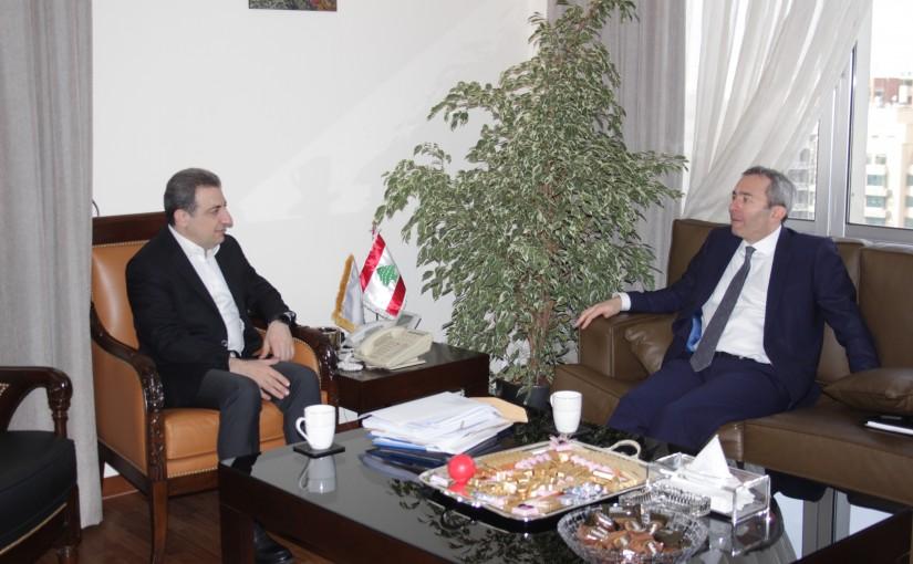 Minister Wael abou Faour meets British Ambassador
