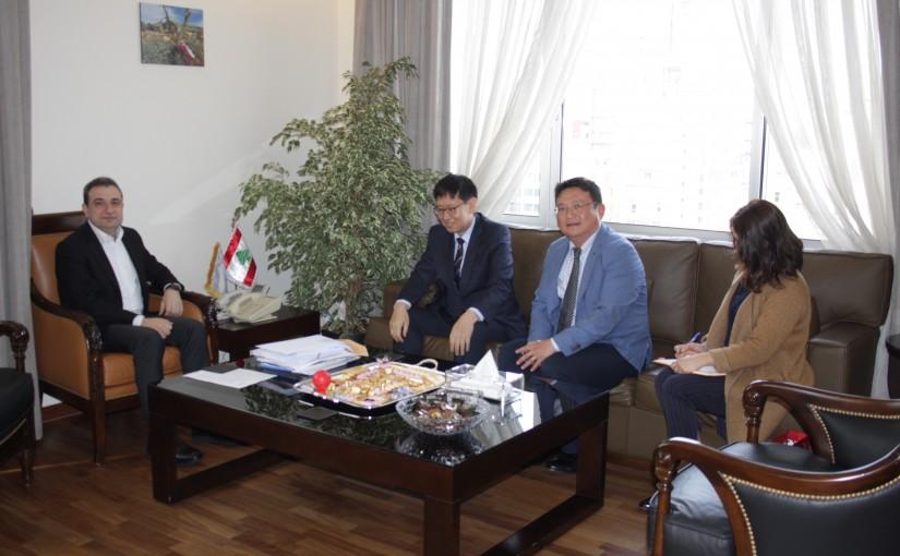 Minister Wael abou Faour meets Korean Ambassador