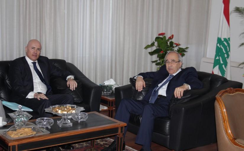 Minister Albert Serhal meets Argentine Ambassador