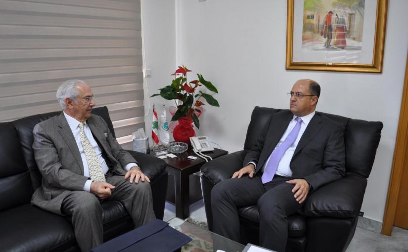 Minister Hassan Lakis Meets Mr Raphael Debbane