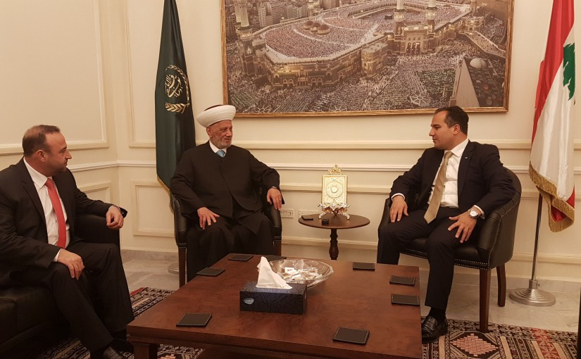 Grand Mufti Abdel Latif Derian Meets Head of Mejdel Anjar Municipality