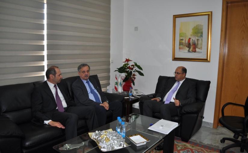 Minister Hassan Lakis Meets Mr Fadi Yarak