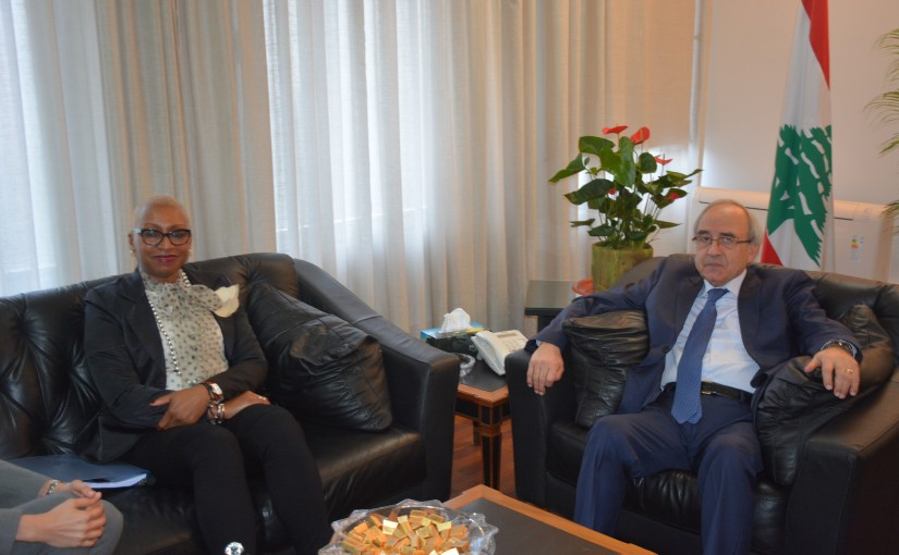 Minister Albert Serhan Meets a Delegation From The World Bank
