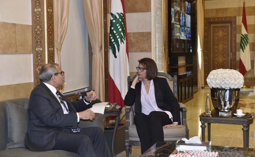 Minister Raya El Hassan Meets Mr Nawaf Salam
