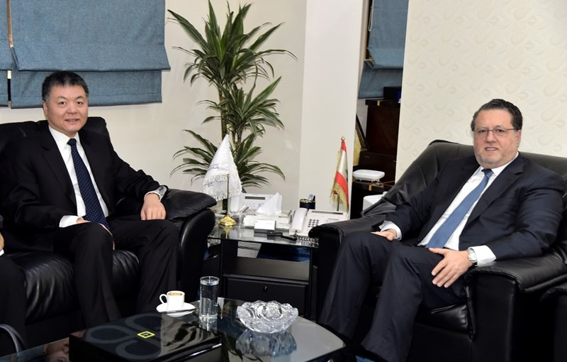 Minister Mohamad Chkeir Meets Chinese Ambassador