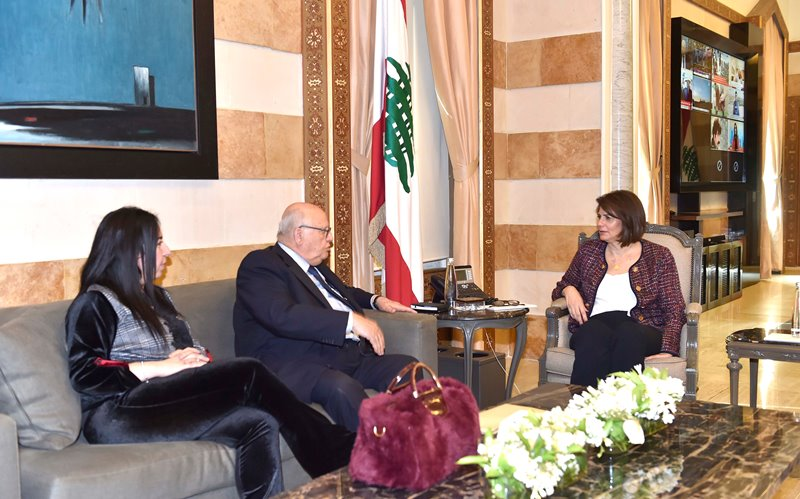 Minister Raya El Hassan Meets Head of Saida Municipality