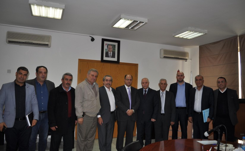 Minister Hassan Lakis Meets Mr Rida El Meiss with a Delegation