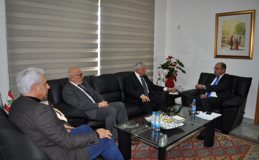 Minister Hassaan Lakis Meets a Delegation From LAU University