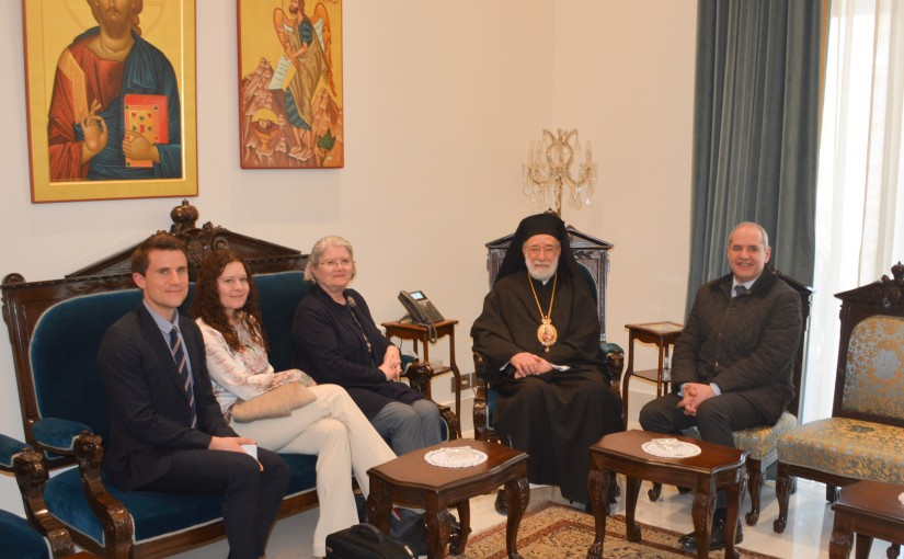 Bishop Elias Aude Meets a Delegation From Norway