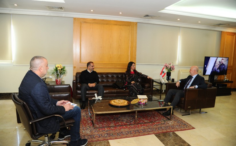 Minister Youssef Fenianos Meets Mrs Miriam Skaff