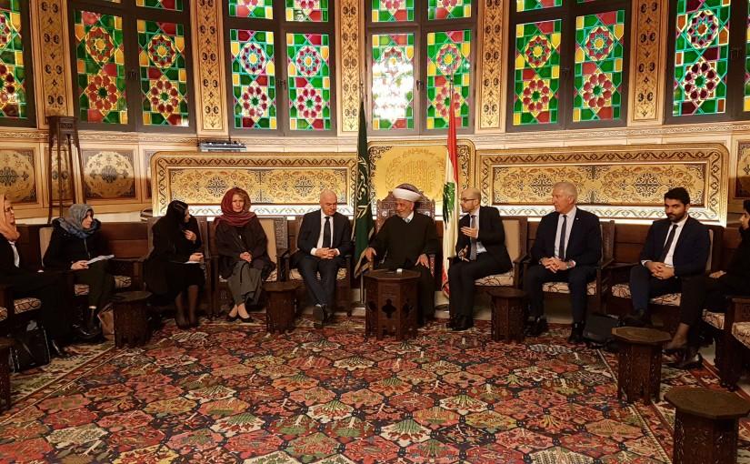 Grand Mufti Abdel Latif Derian Meets a French Delegation