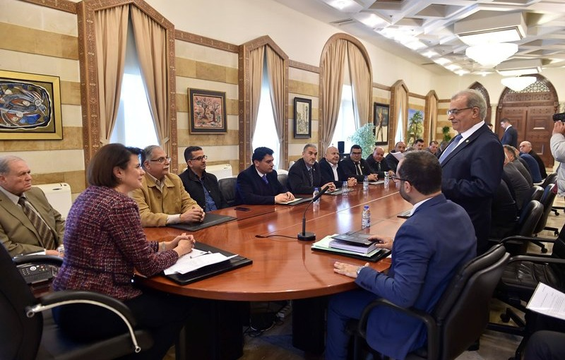 Minister Raya El Hassan Meets a Delegation of Makhateers