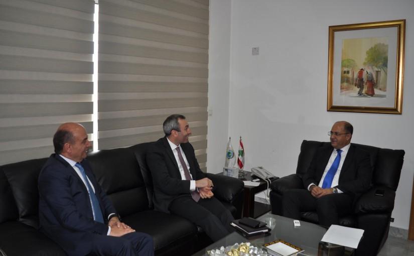 Minister Hassan Lakis Meets British Ambassador