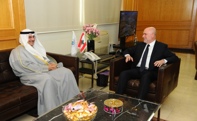 Minister Youssef Fenianos Meets Kuwaity Ambassador
