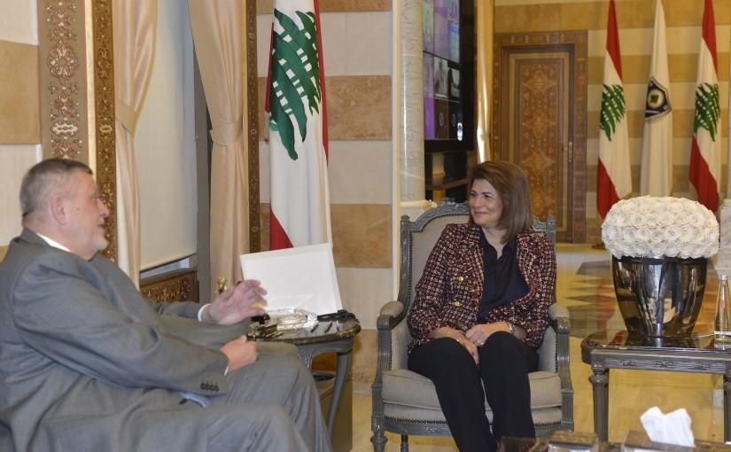 Minister Raya El Hassan Meets UN Coordinator for Lebanon  Jan Kubis