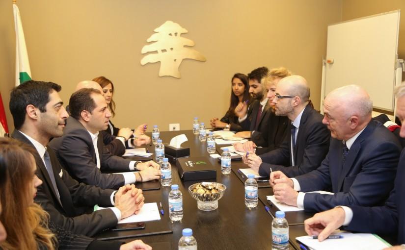 MP Sami Gemayel Meets a French Parliamentary Delegation