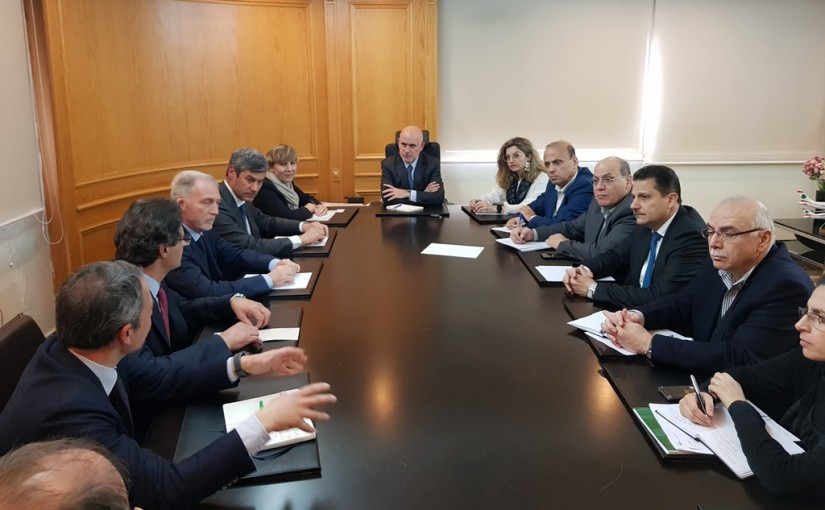 Minister Youssef Fenianos Meets a Delegation From Italian Aviation Regulatory Authority