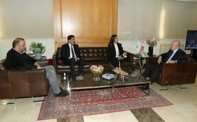 Minister Youssef Fenianos Meets MP Strida Geagea