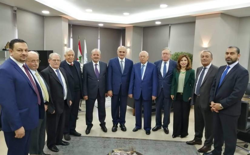 Minister Ali Hassan Khalil Meets a Delegation From Tripoli Bar Association