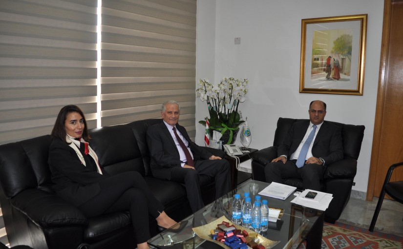 Minister Hassan Lakis Meets Baalbak Head of Municipality Hussein Lakis