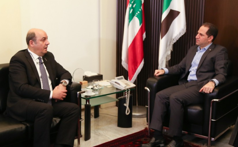 Head of Kataeb Party MP Sami Gemayel Meets Turkish Ambassador
