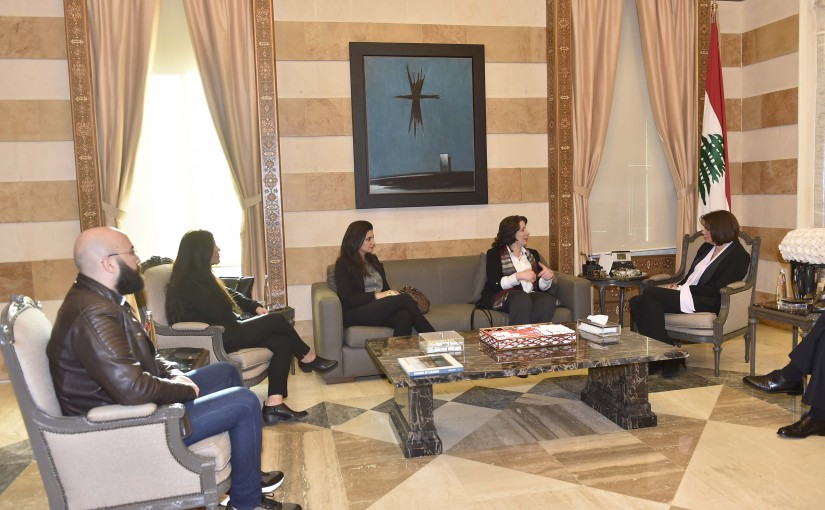 Minister Raya El Hassan Meets a Delegation From The Election Observation Society