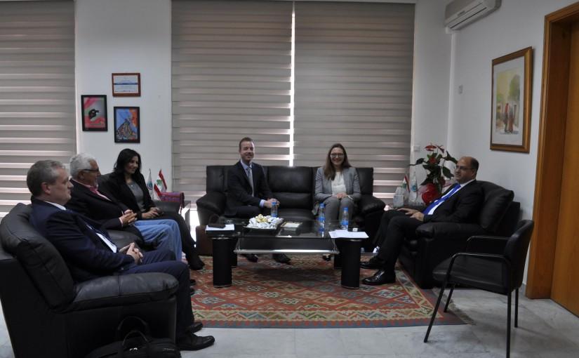 Minister Hassan Lakis Meets Denmark Ambassador