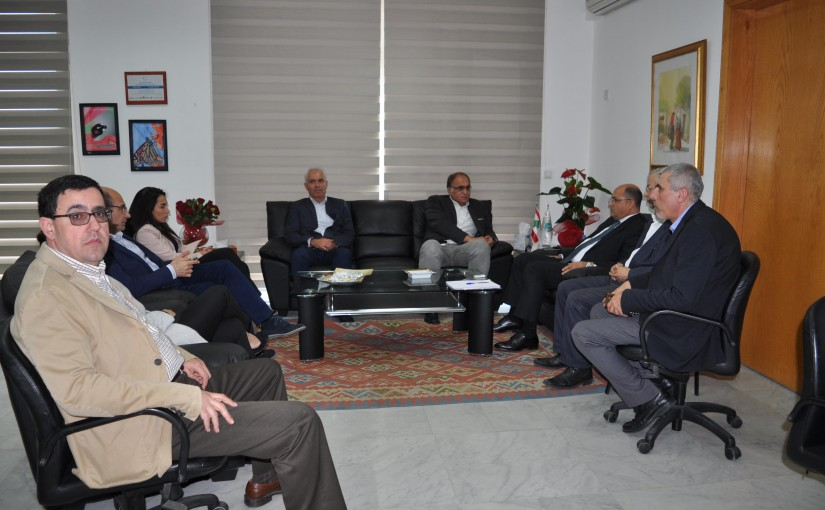 Minister Hassan Lakis Meets a Delegation from the Faculty of Engineering at the Lebanese University