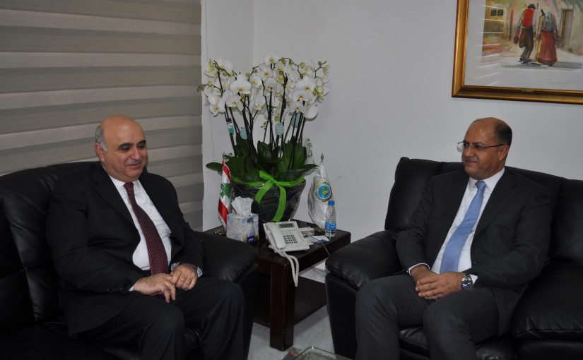 Minister Hassan Lakis Meets MP Chawki Dacccahe