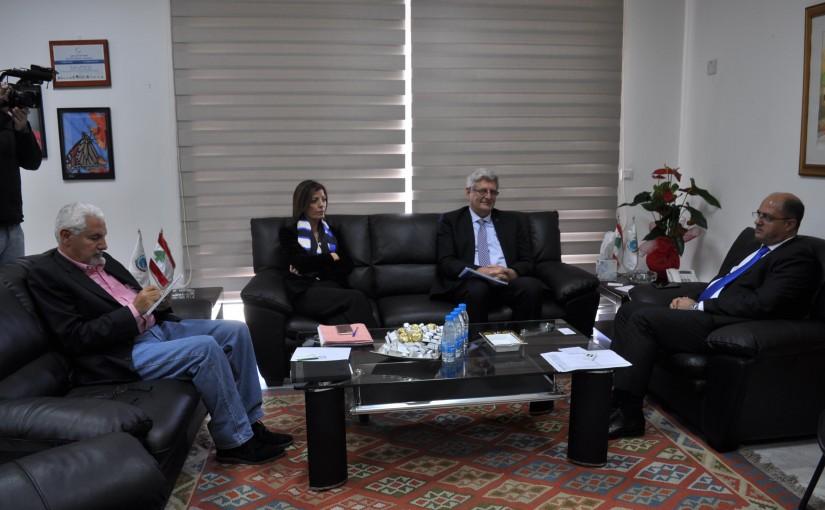 Minister Hassan Lakis Meets Ambassador Maurice Saade