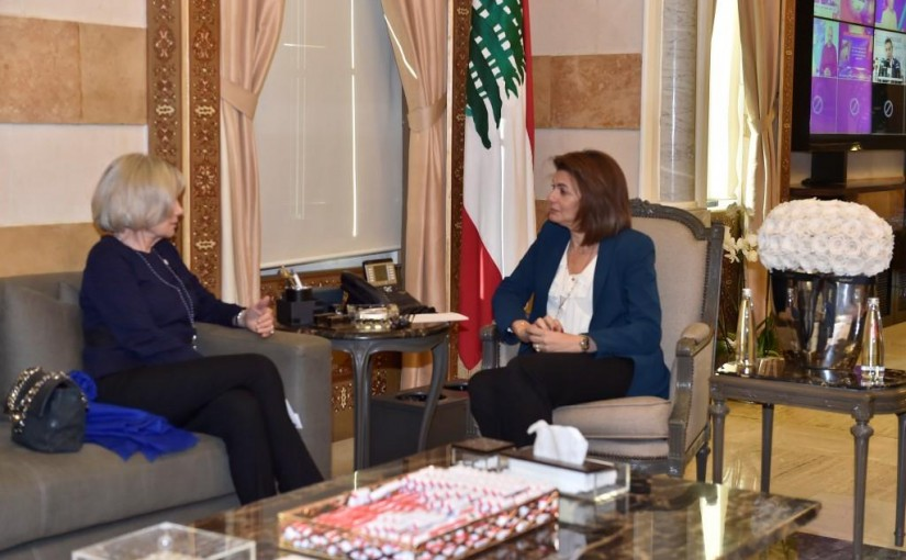 Minister Raya El Hassan Meets Elisabeth Guigou President of the Anna Lindh Foundation