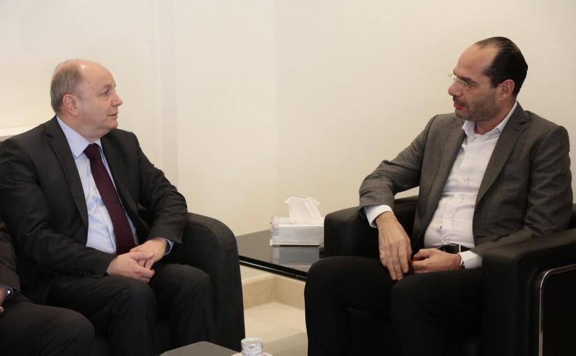 Minister Hassan Mrad Meets Mr Bechara Asmar