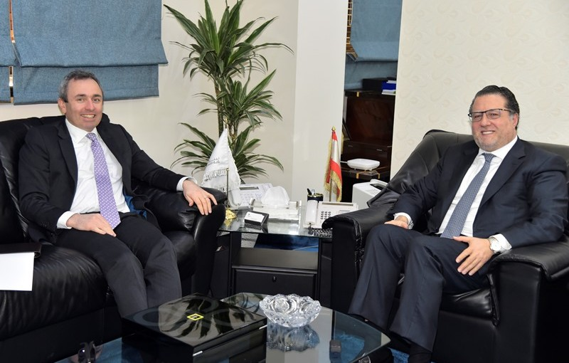 Minister Mohamad Chkeir Meets British Ambassador