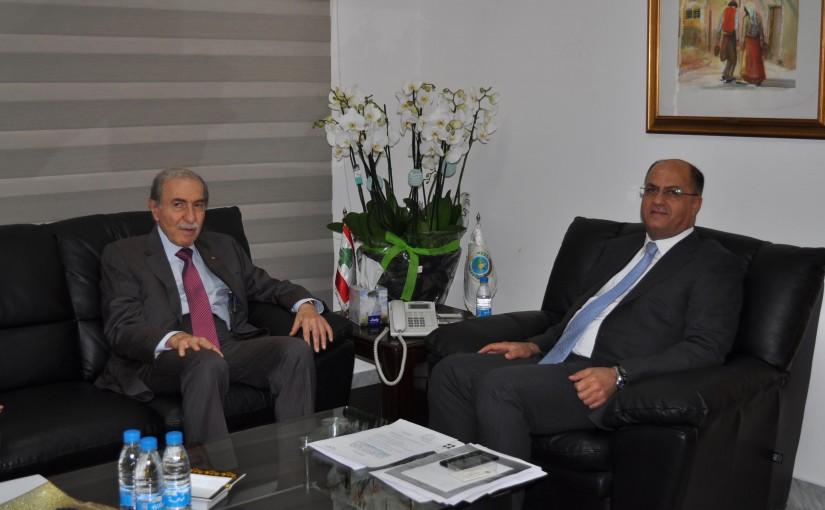 Minister Hassan Lakis Meets MP Anwar El Khalil