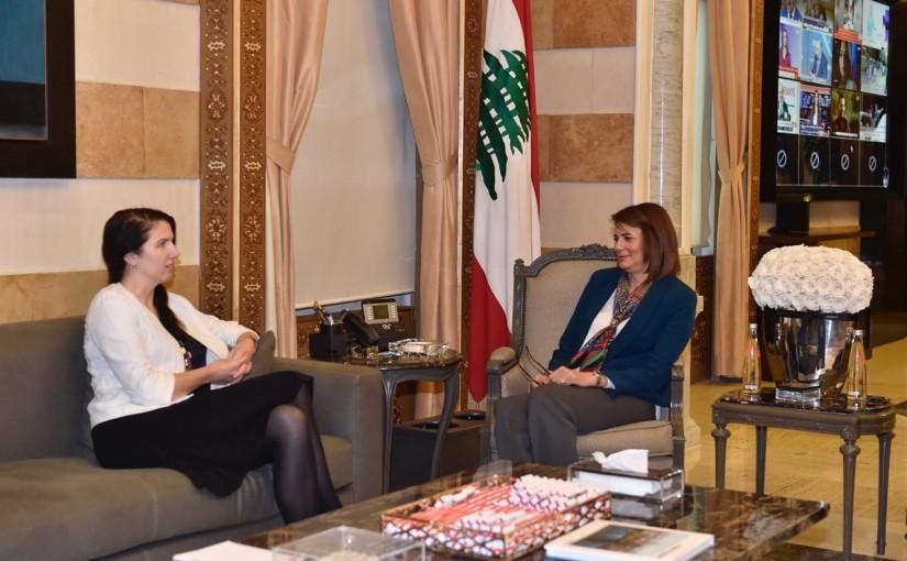 Minister Raya El Hassan Meets Australian Ambassador