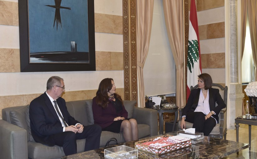 Minister Raya El Hassan Meets a Delegation From The World Bank