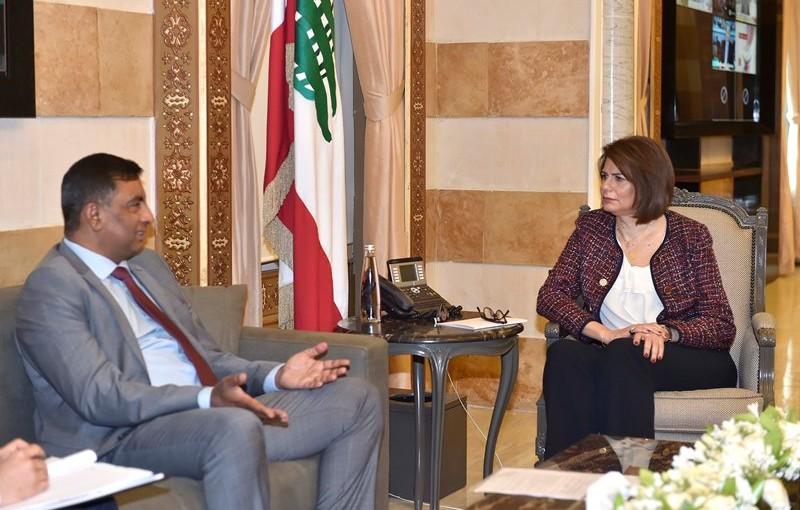Minister Raya El Hassan Meets Pakistan Ambassador