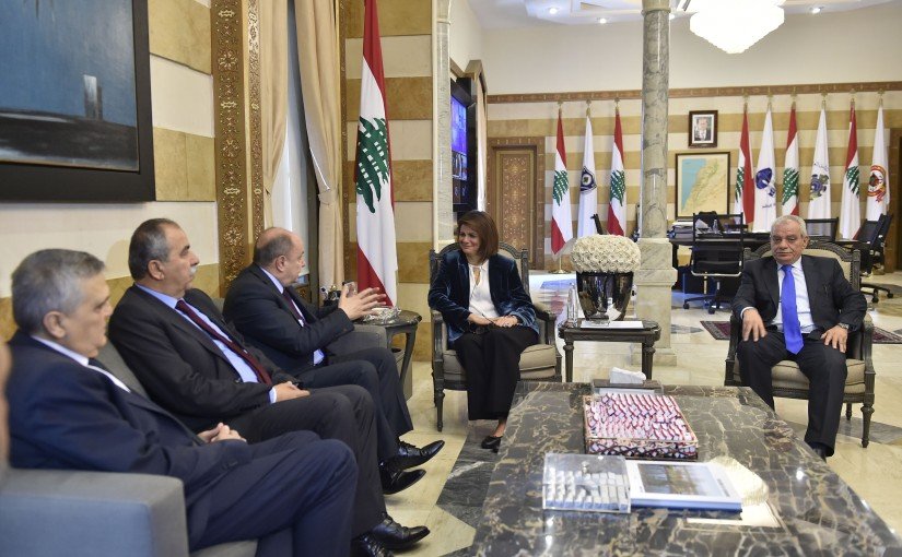 Minister Raya El Hassan Meets Mr Bechara Asmar