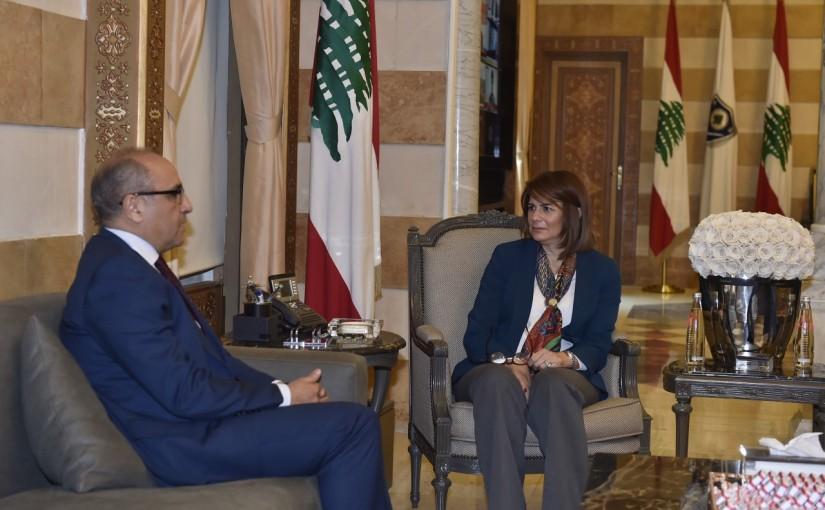 Minister Raya El Hassan Meets Tunisian Ambassador