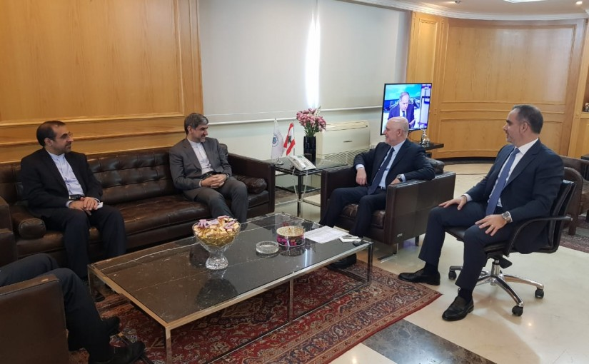 Minister Youssef Fenianos Meets Iranian Ambassador