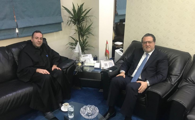 Minister Mohamad Chkeir Meets Father Charbel Bou Abboud