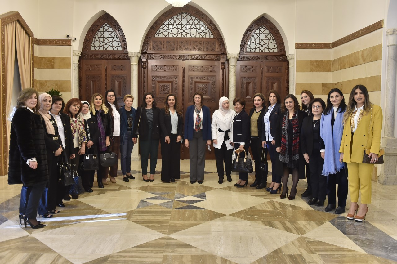 Minister raya el hassan meets a delegation from political bureau of