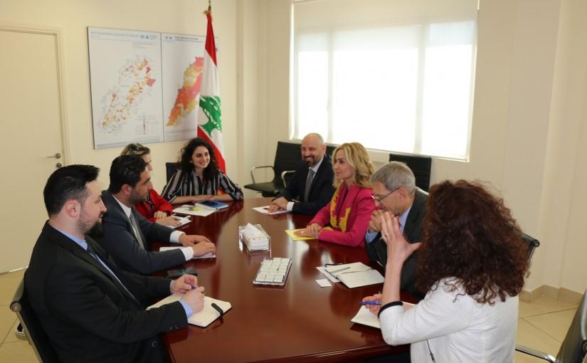 Minister Saleh El Gharib Meets a Swiss Delegation