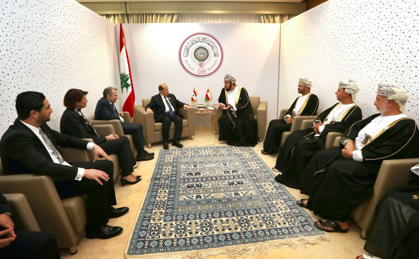 President Michel Aoun meets H H Sayyid Asaad bin Tariq al Said, representative of His Majesty Sultan Qaboos Bin Said.