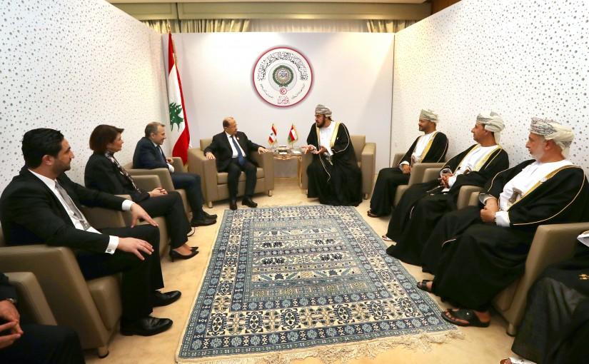 President Michel Aoun meets H H Sayyid Asaad bin Tariq al Said, representative of His Majesty Sultan Qaboos Bin Said.