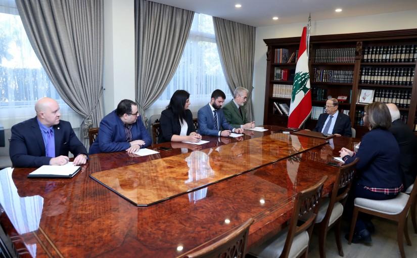 President Michel Aoun meets Russian Media Correspondents in Lebanon.