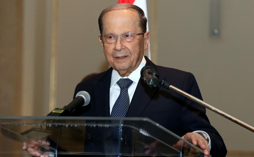 President Michel Aoun meets Lebanese community.(Moscow).