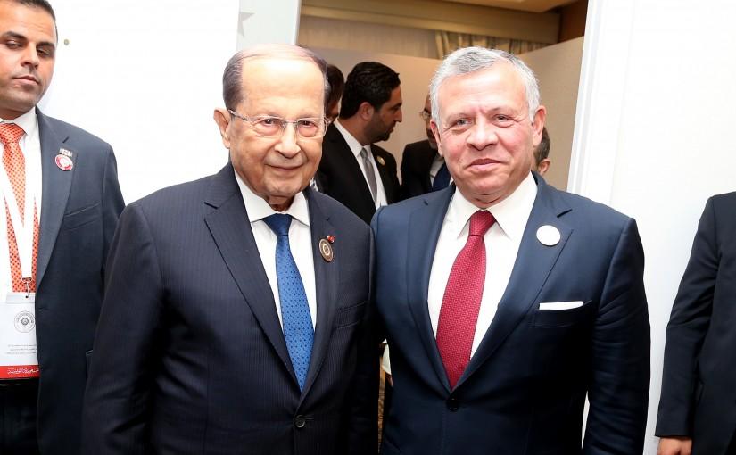 President Michel Aoun meets His Majesty King Abdullah.
