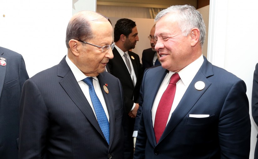 President Michel Aoun meets His Majesty King Abdullah.