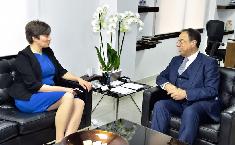 Minister Mansour Bteich meets Canadian Ambassador